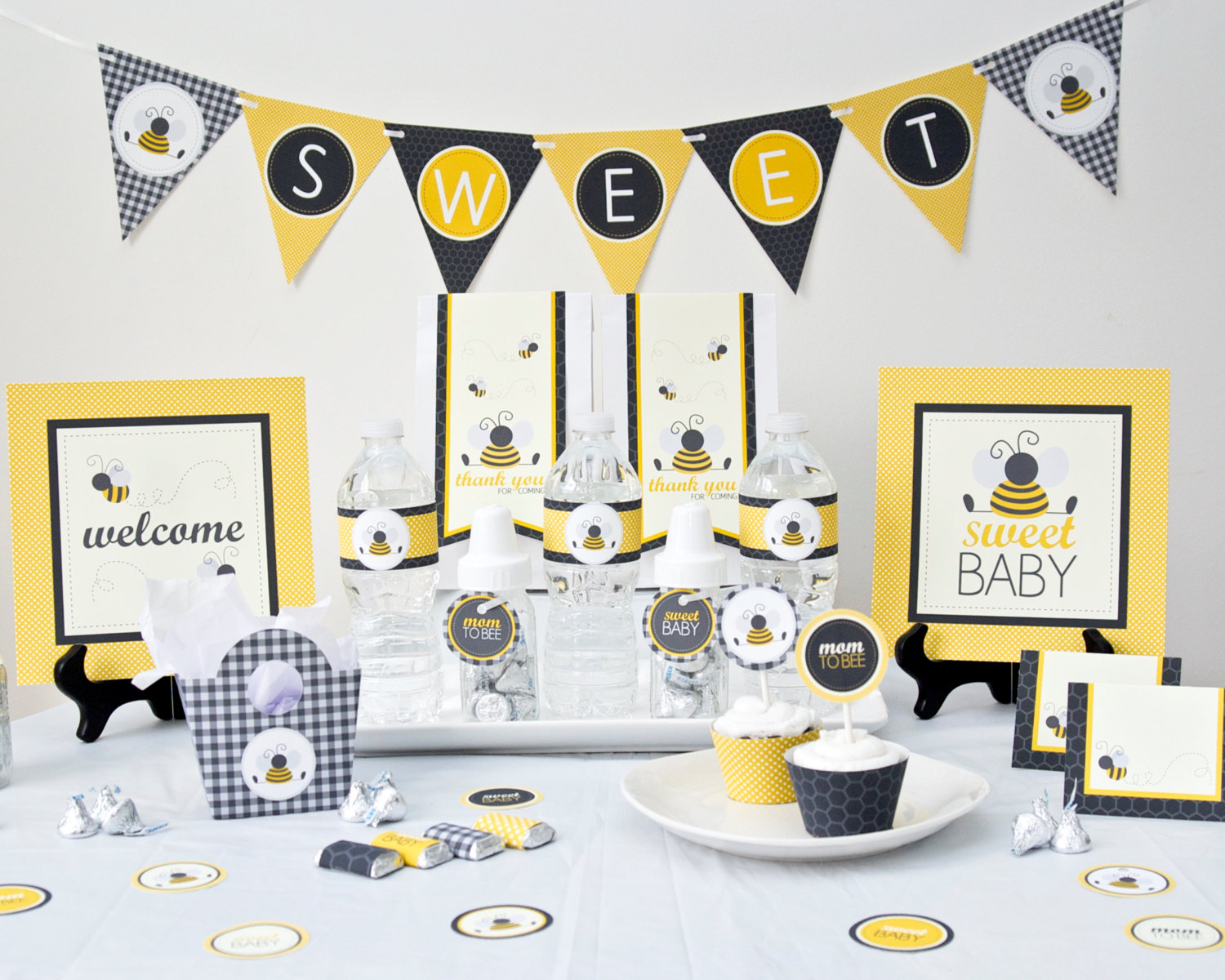 prickly press bumble bee baby shower party package
