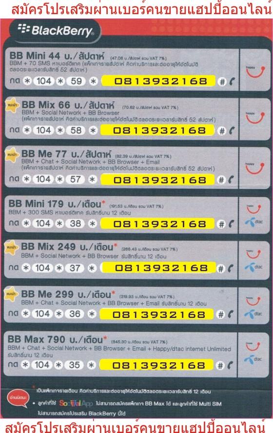 โปรบีบีดีแทค, Pro BB Mix, Pro Dtac BB
