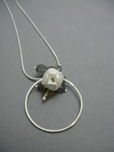 Blossom bud and loop pendant, silver, labradorites & citrine £110