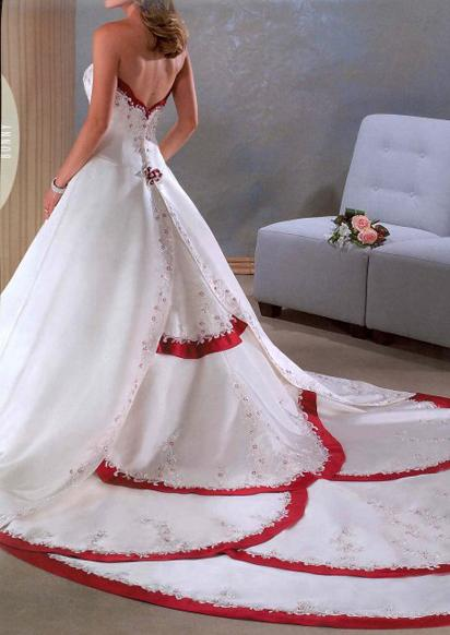 LOVE The Beauty Of The Soul WHITE RED WEDDING DRESSES