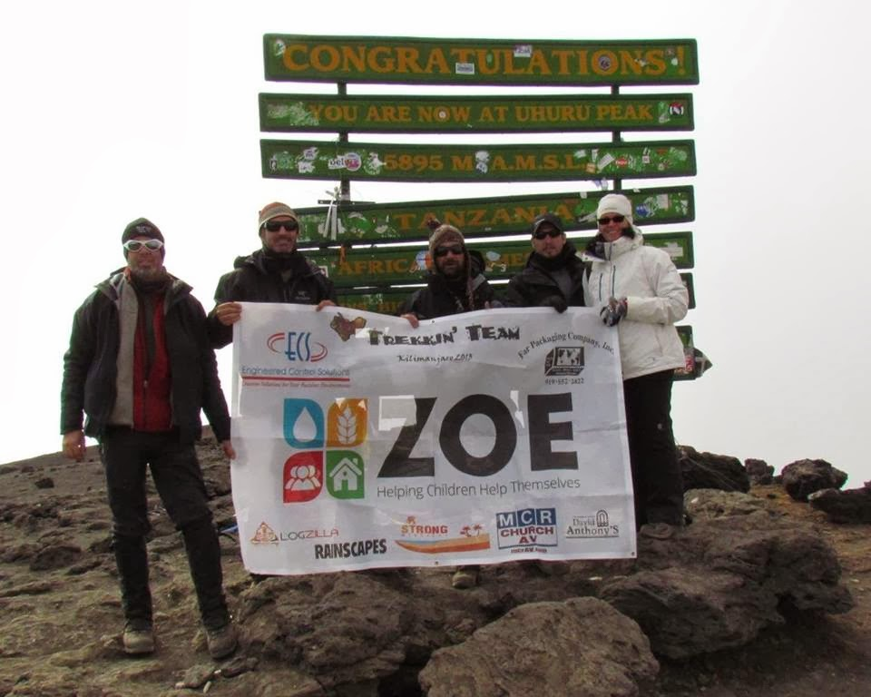 Trekkin' Team at Summit of Kilimanjaro
