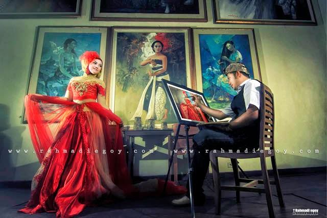 foto prewedding konsep melukis lukisa