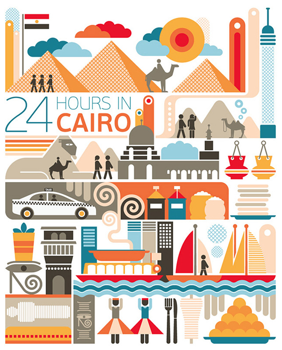 Safari Fusion blog | 24 hours in... | Illustrations by Brazil's Fernando Volken Tongi