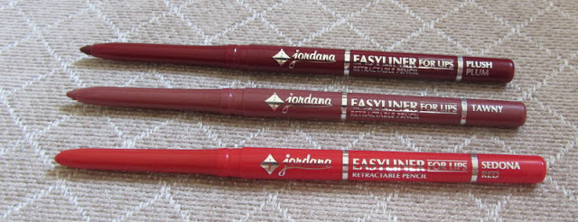 Jordana Easyliner for Lips: Plush Plum, Tawny, Sedona Red