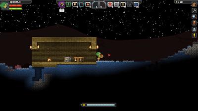 Начальный дом в Starbound