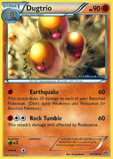 Dugtrio Pokemon X and Y Card