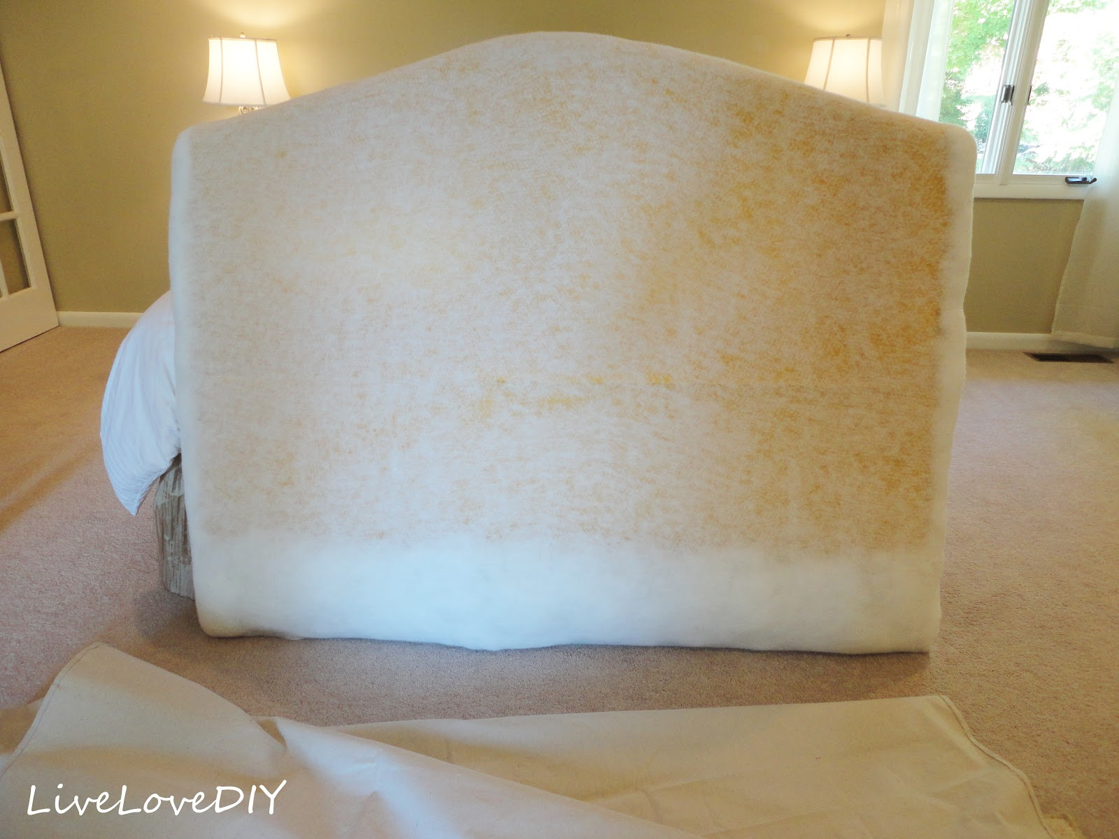 Livelovediy how to make an upholstered headboard with a Make your own headboard