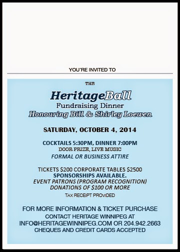 Heritage Ball Fundraising Dinner - You're Invited!