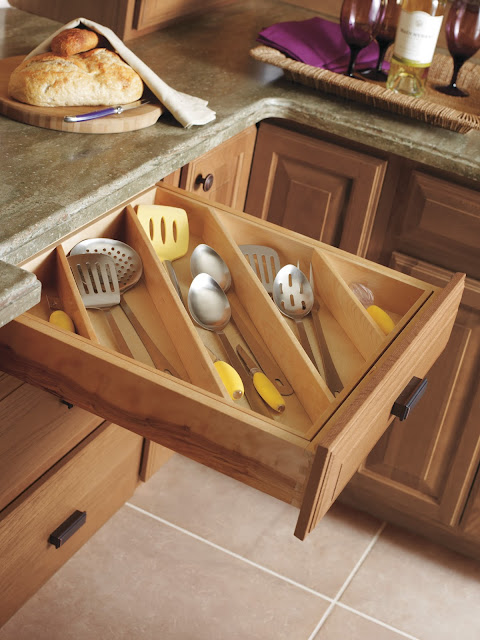 Drawer with slanted organizer :: OrganizingMadeFun.com
