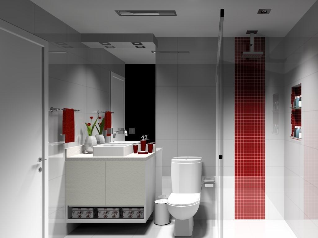 Help na Reforma 10 IDÉIAS DE APLICAÇÃO DE PASTILHAS EM BANHEIRO -> Banheiro Com Faixa De Pastilha Vertical