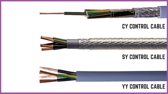 Sy Control Cable : Varied types of cables wires instrumentation control
