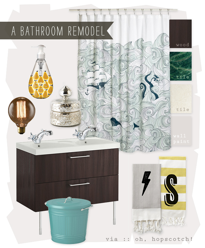bathroom, IKEA, inspiration board, interior decorating, redecorate, remodel,
