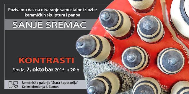 """Samostalna izložba """"Kontrasti"""" akademskog slikara - keramičara Sanje Sremac"""