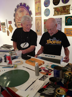 Cal trotter from raven sign co and John Jbone lennig from big top sign arts