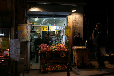 Fruit Juice Shop in Istanbul
