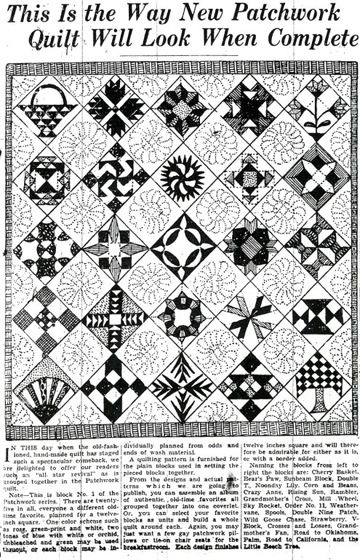 Barbara brackmans material culture ruby mckim in the denver post the denver post is posting a vintage quilt pattern regularly for a few weeks on their archive blog the blocks are from a sampler from ruby short mckims fandeluxe Gallery