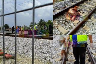 Lagi Foto Tubuh Wanita Hamil Berkecai Digilis Kereta Api