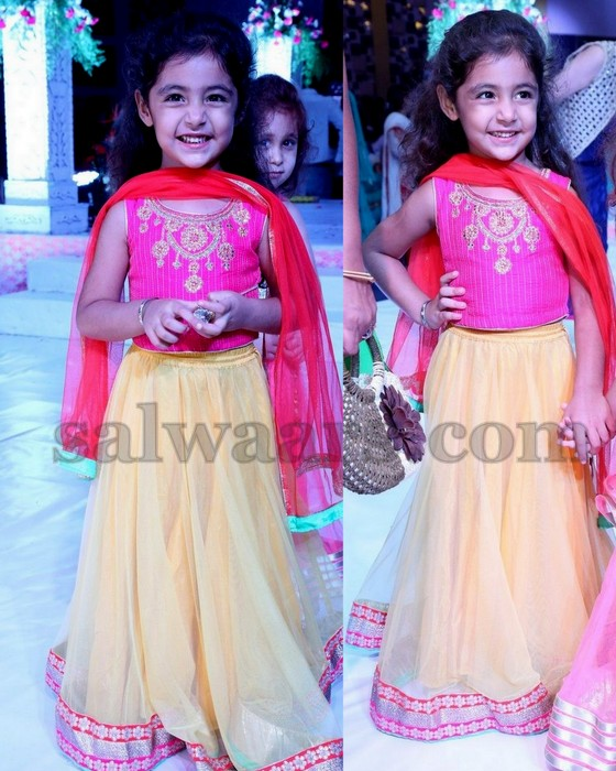 Smiling Kid in Latest Lehenga