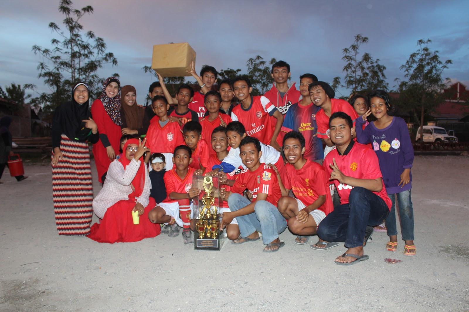 kebersamaan generus kemenangan tim futsal ldii palupi