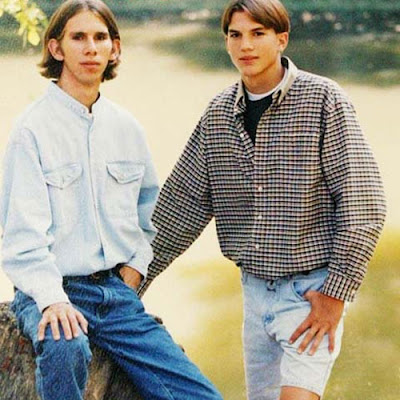 ashton kutcher twin brother michael. Ashton Kutcher twin brother