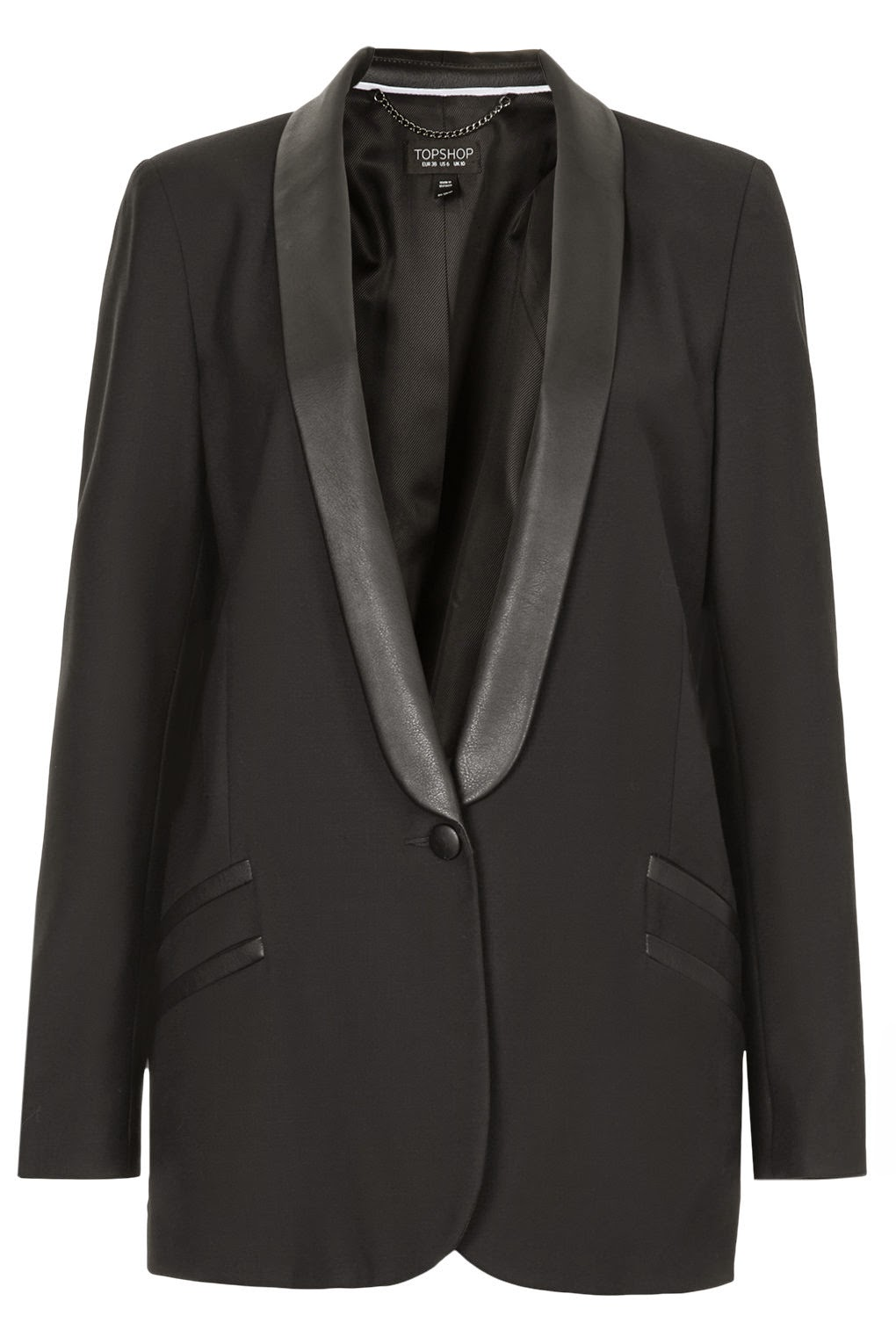 tuxedo with leather lapels