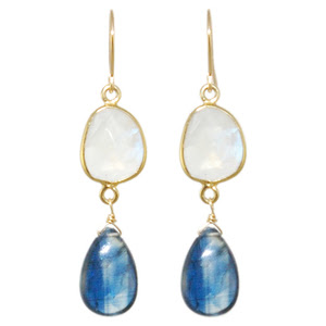 blue jewelry, blue earrings,