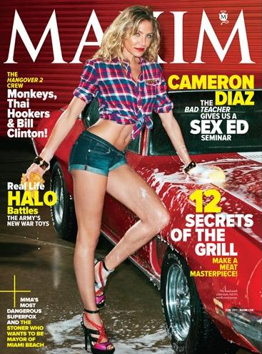 cameron diaz 2011 maxim. Actress Cameron Diaz, who is