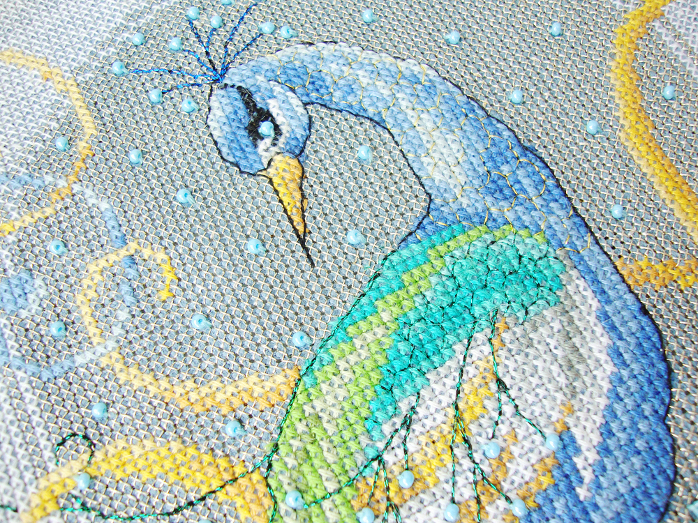 Animals, Beaded, Birds, Cross Stitch, Handmade, Peacock
