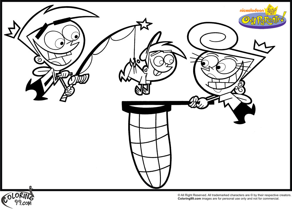 fairly oddparents printable coloring pages - photo#4