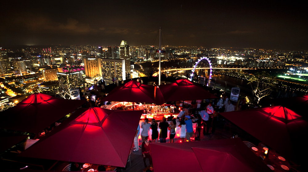 Ce La Vi event venue in Singapore open after midnight