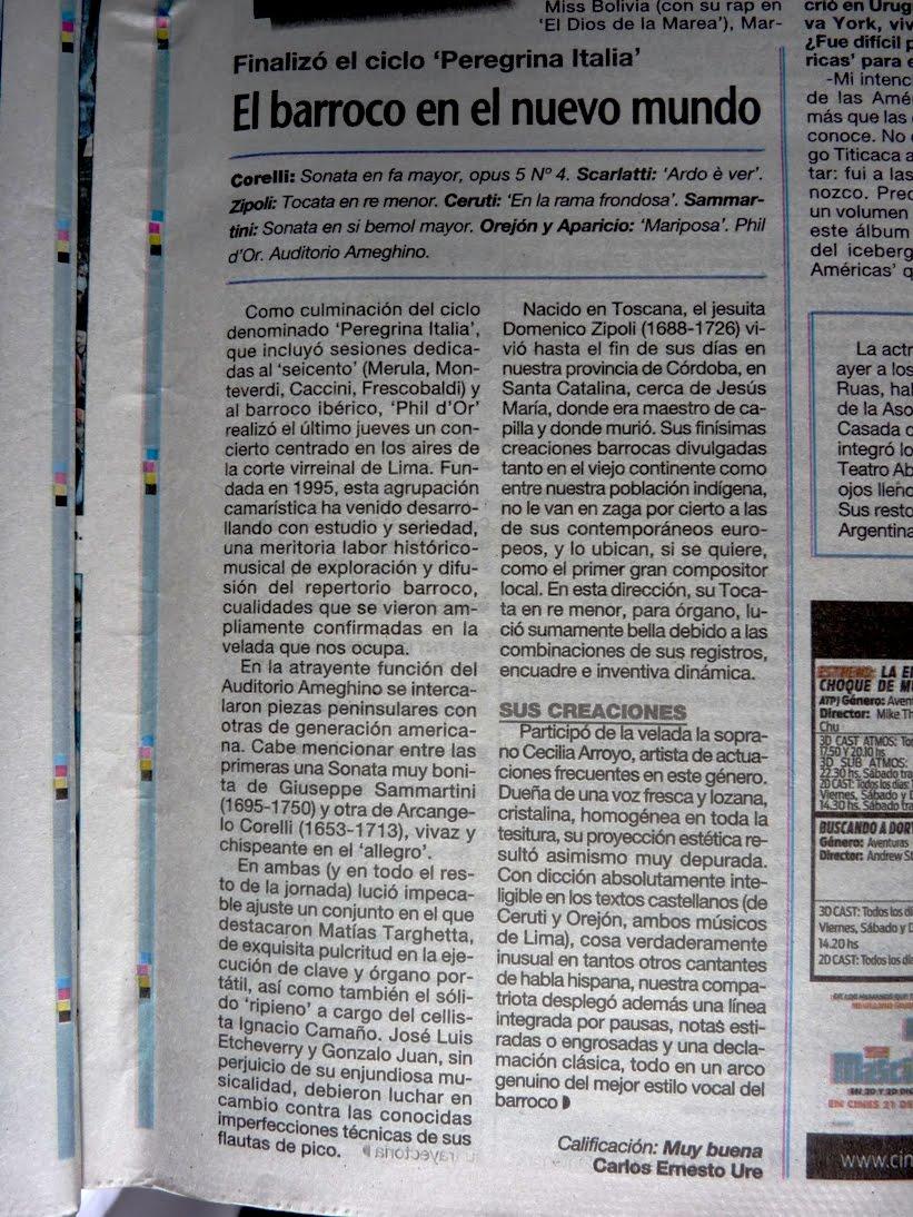 Crítica en La Prensa 10/07/16