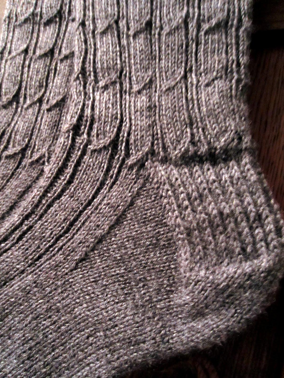 Knitting Mock Cable Socks For Men