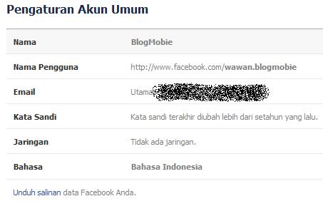 Cara Ganti Nama Facebook Dengan Satu Kata