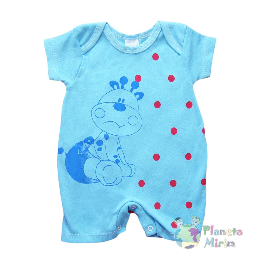 macacão para meninos azul com estampas divertidas na loja Planeta Mirim