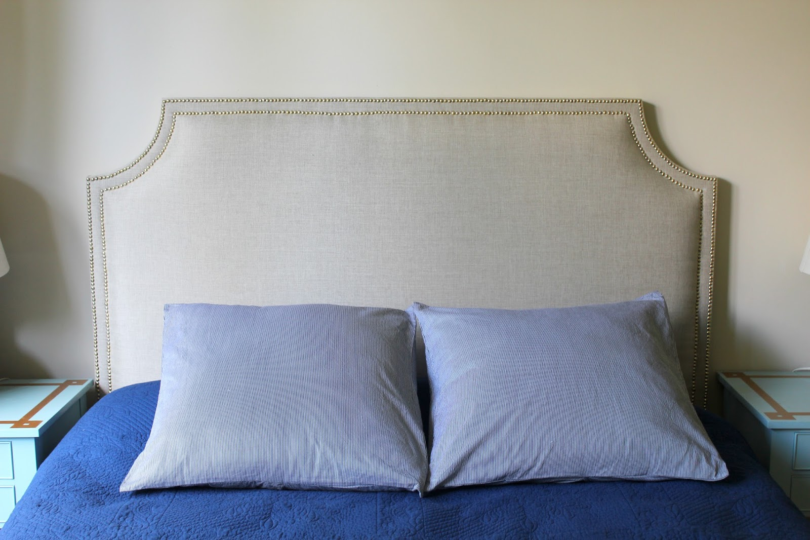 My decor education 7 simple steps to a diy upholstered for Simple headboards