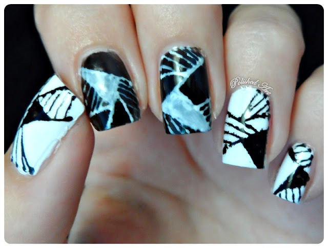 Black-White-Nail-Art-Challenge-Geometric-barry-m-nail-art-pens
