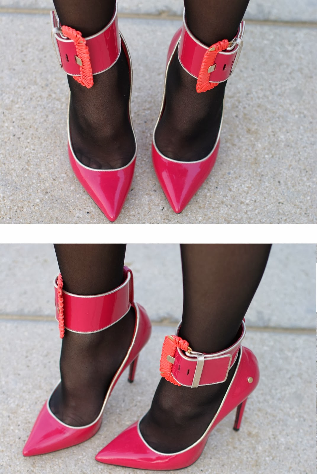 Cesare Paciotti fuchsia pumps, anklet stiletto pumps, Fashion and Cookies, fashion blogger