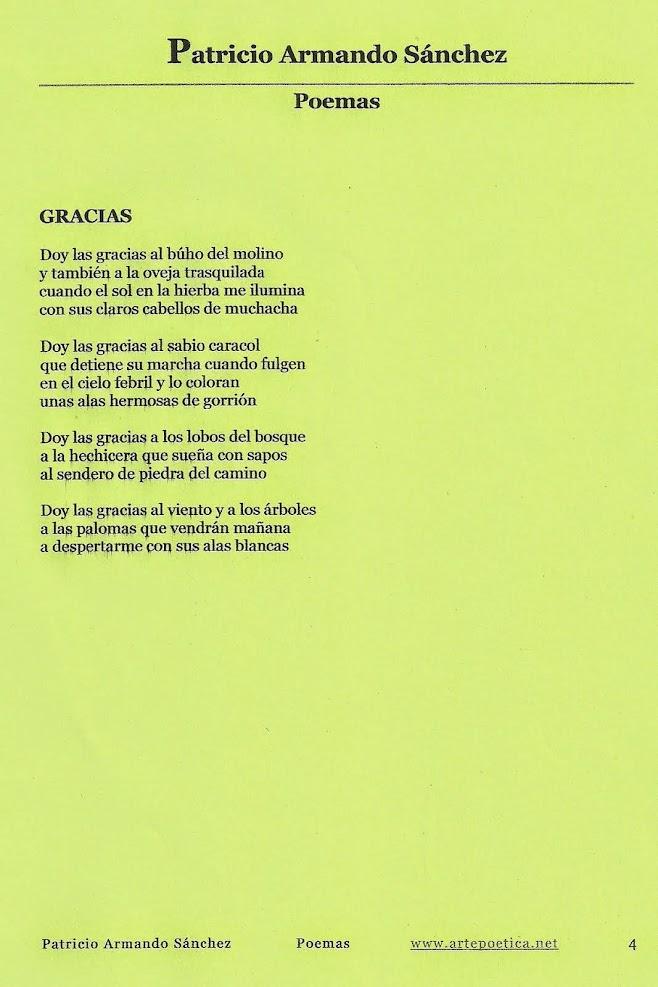 Poèmes de Patricio SANCHEZ (France, 2015)