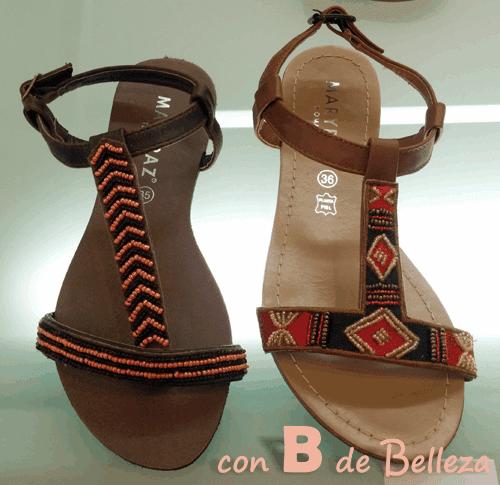 Sandalia estilo étnico