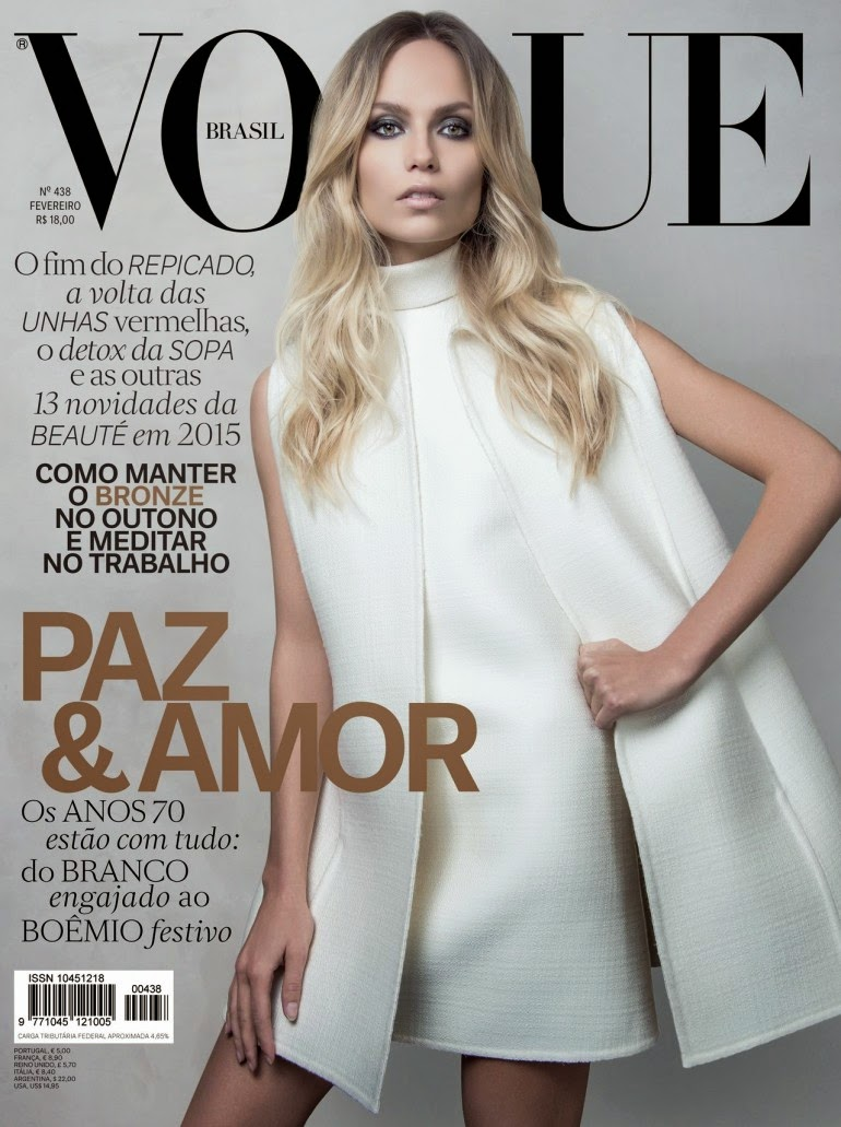 Model: Natasha Poly by Jacques Dequeker for Vogue Brasil