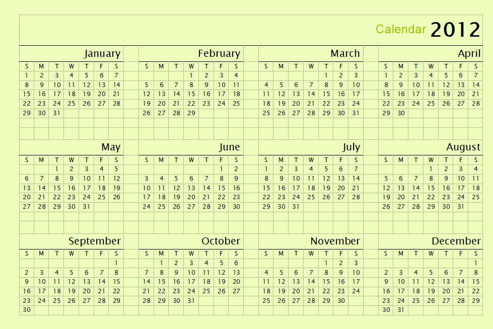 Calendar One Page Vertical : Calendar on one page vertical shaded weekends space