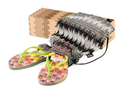 Havaianas Missoni Slim Rachel sandals, Missoni Sandals, Missoni Flipflops, Havaiana flip flops, designer sandals