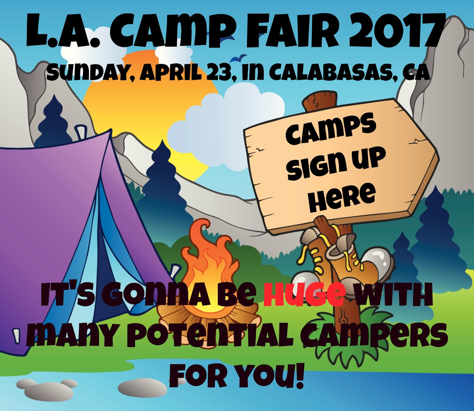Sign up for the L.A. Summer Camp Fair April 23, 2017 in Calabasas, CA!
