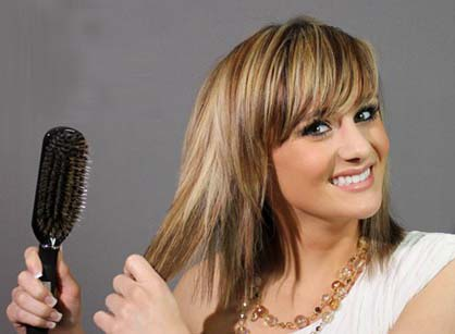 how to get a brush out of tangled hair