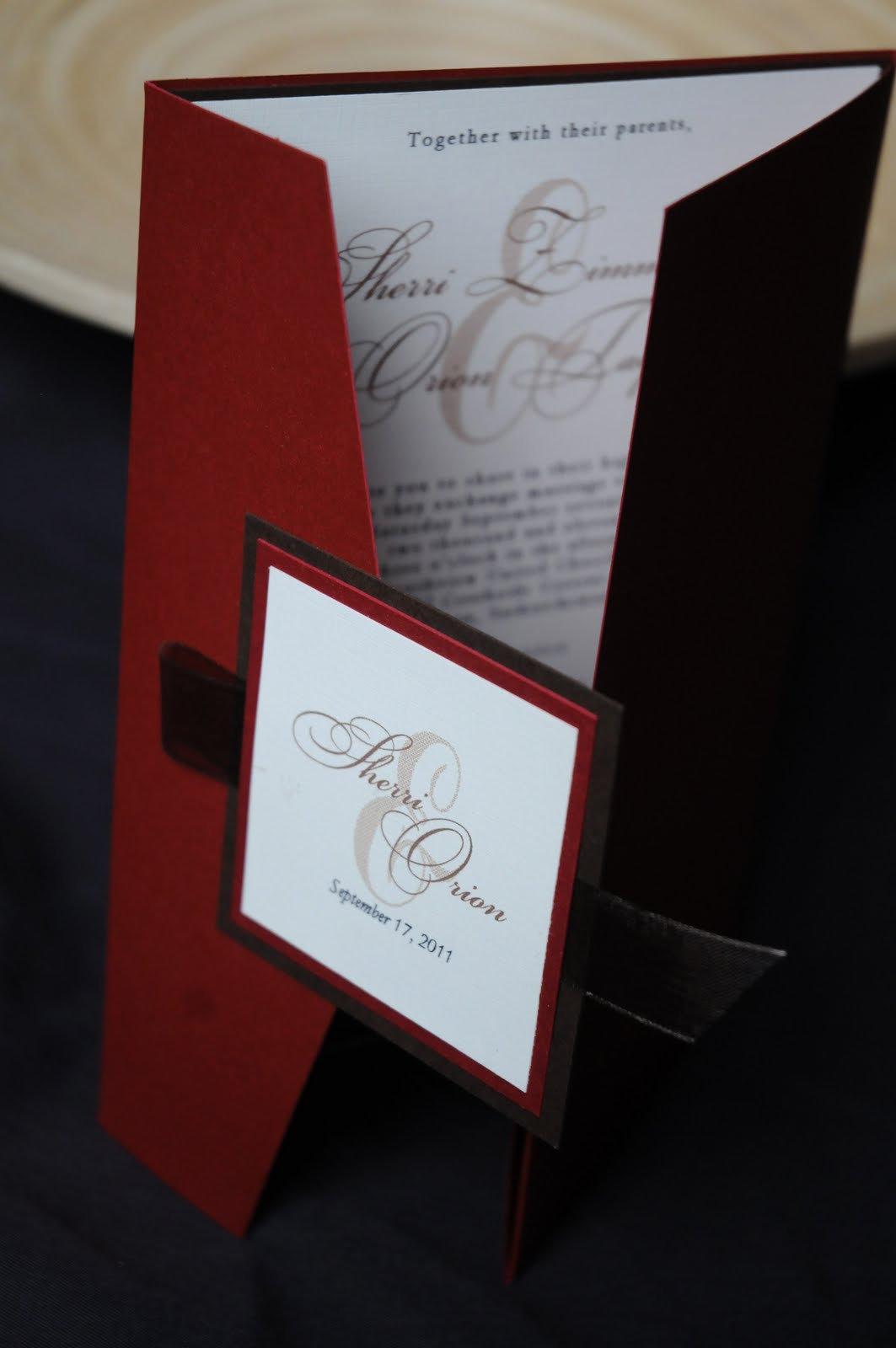 Sorella Invitation Design: Pocket Style Wedding Invitations