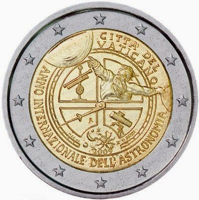 2 euro Vatican City 2009, International Year of Astronomy