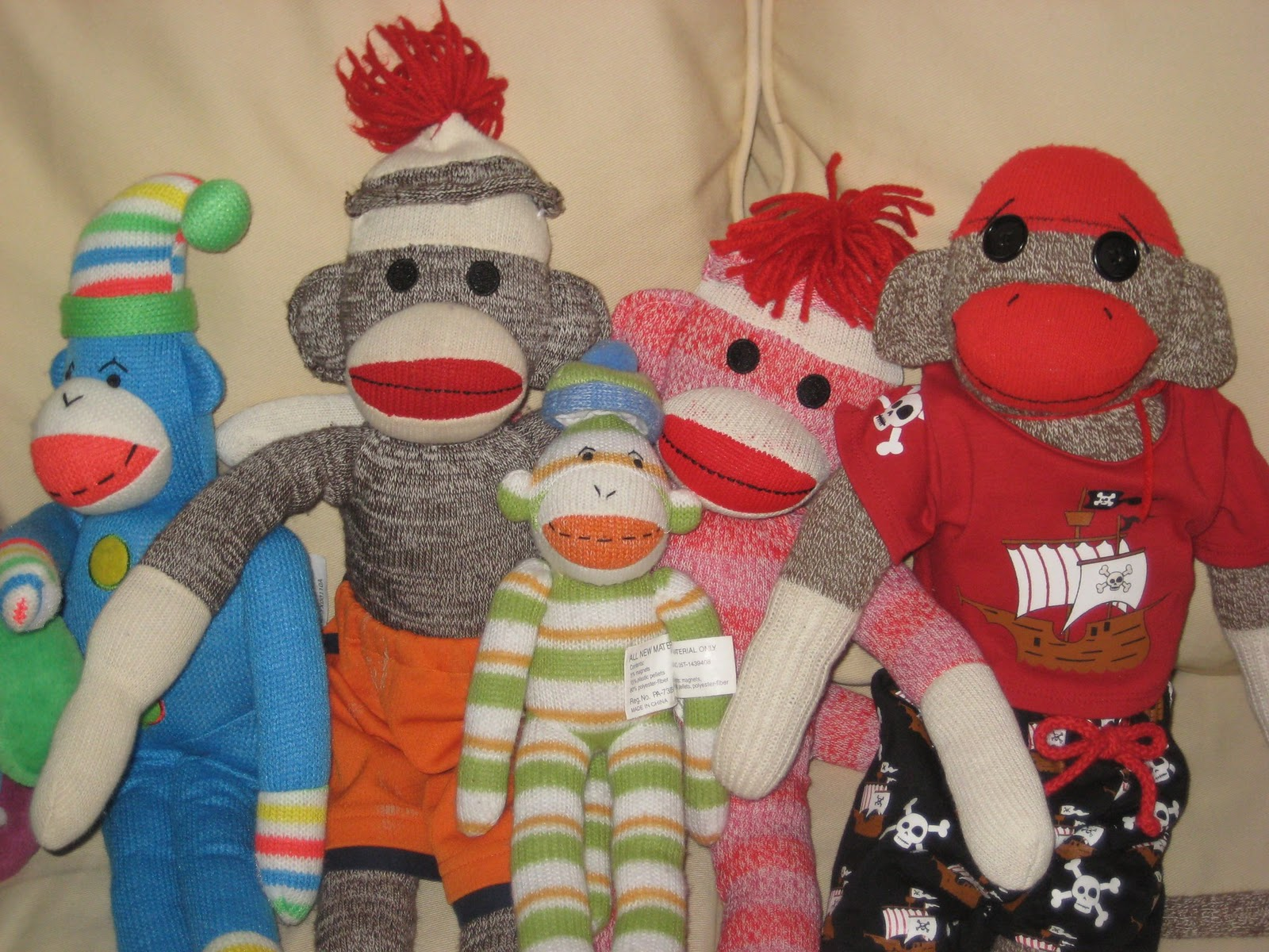 you, me and b: diy sock monkey costume - pictorial instructions