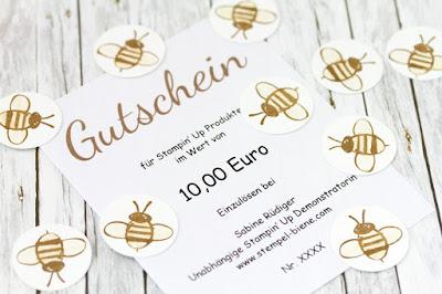 Stampin Up Treuepunkte, Stempel-biene, Bienenpunkte, Stampin Up Gutschein