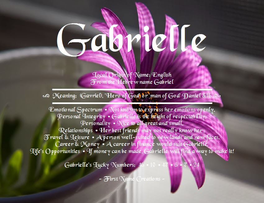 the gallery for gt the name gabrielle in glitter