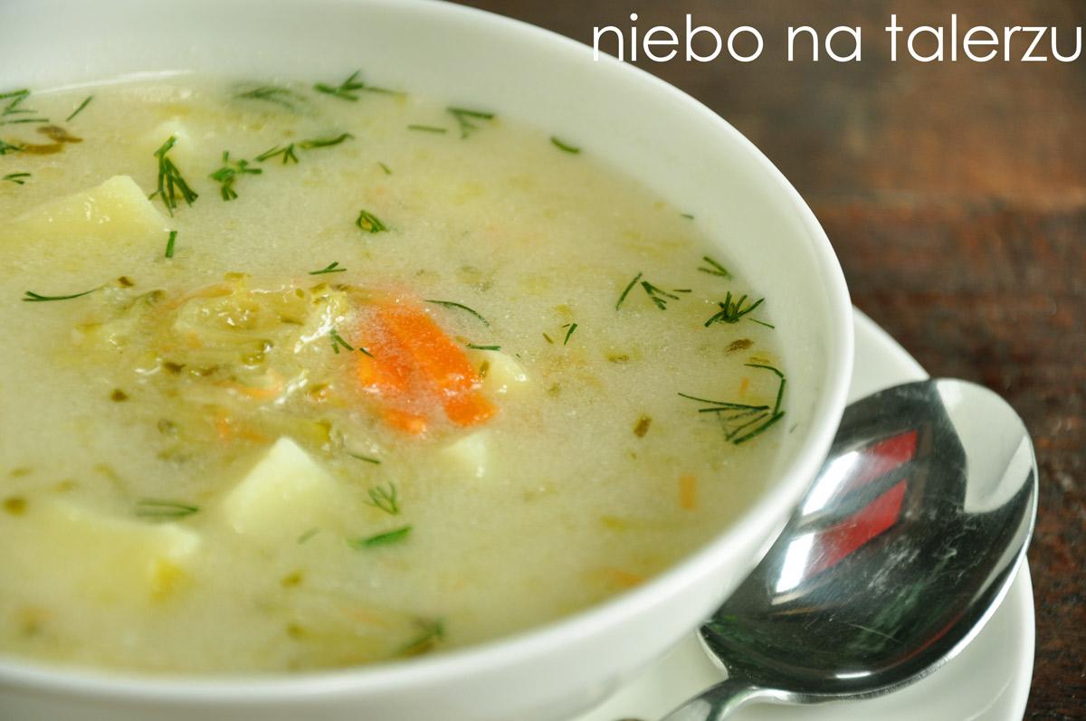 Zupa Ogorkowa Niebo Na Talerzu